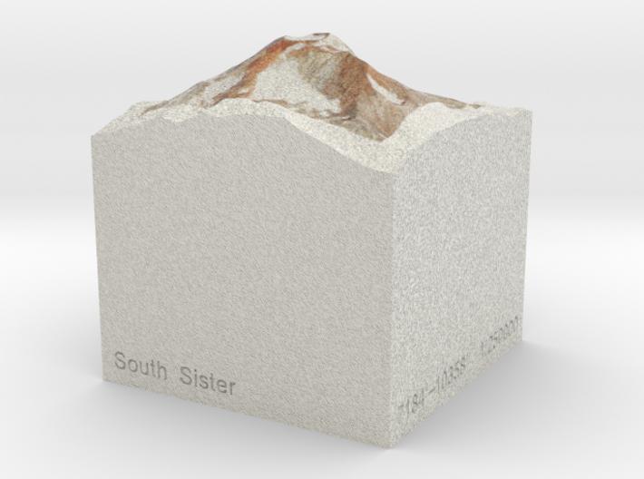 South Sister, Oregon, USA, 1:250000 Explorer 3d printed