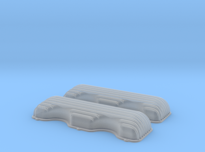1/16 409 Finned Valve Covers File 3d printed