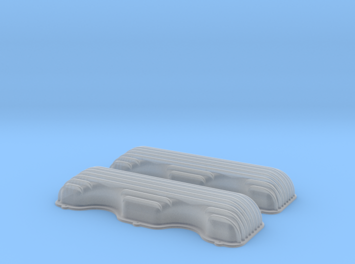 1/18 409 Finned Valve Covers File 3d printed