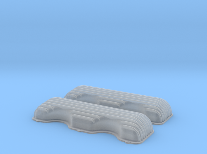 1/43 409 Finned Valve Covers File 3d printed