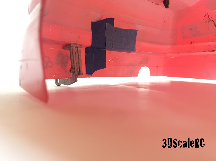Scale Rc Tow Hook 3d printed Mounting View