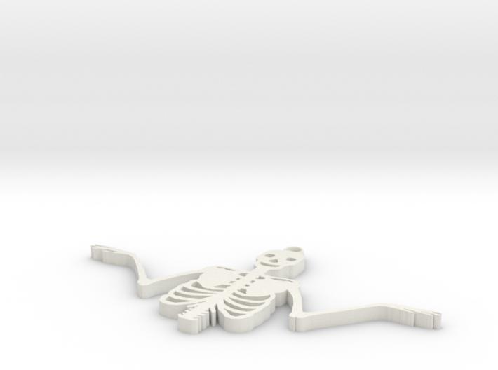 Spooky Skeleton Pendant 3d printed