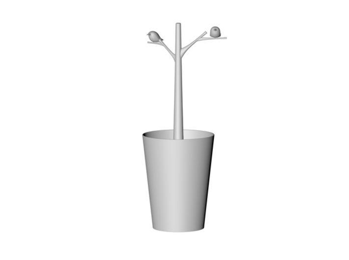 Vase for water plant_Kingfisher 3d printed