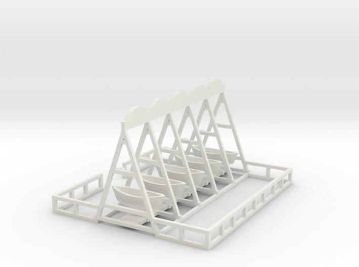 Schiffschaukel 5 Gondeln 3d printed