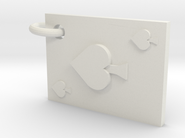 Playing Card Earring (Spades) 3d printed