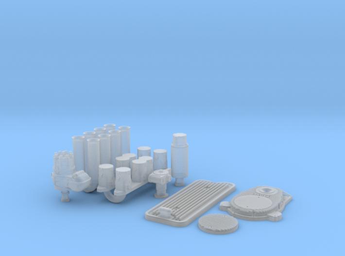 1/16 Hilborn Fuel Inj. System For Buick Nailhead 3d printed