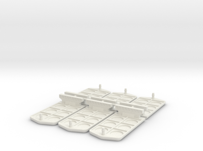 Boat miniatures for Container board game 3d printed