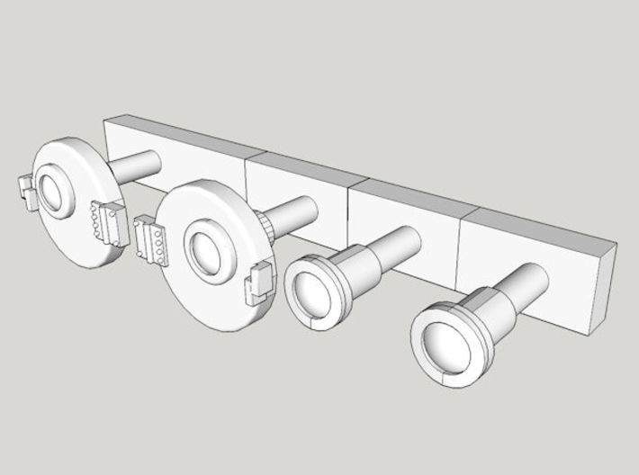 HO NSWGR 44 Class 2 x Marker Lights - Original 3d printed Computer render view without protective box