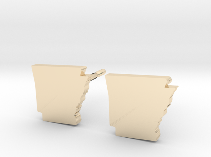 Arkansas State Earrings, post style 3d printed