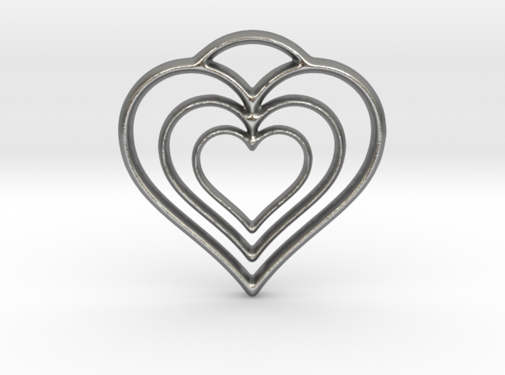 Three Hearts 3d printed