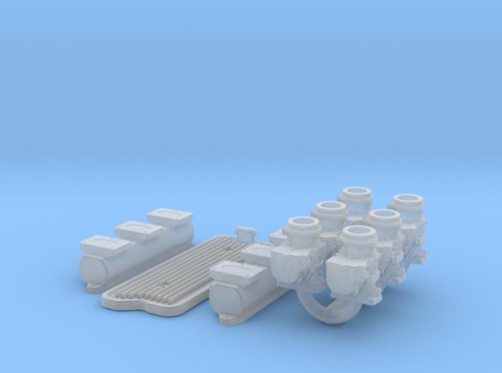 1/18 6X2 Buick Nailhead Intake System 3d printed