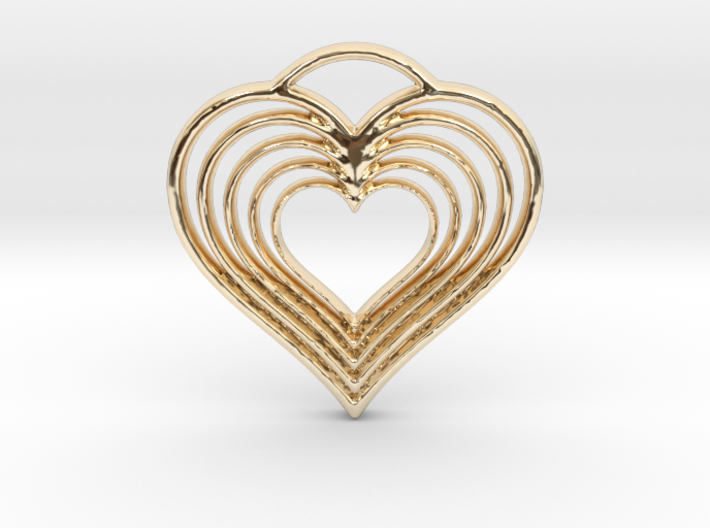 Hearts in Hearts 3d printed