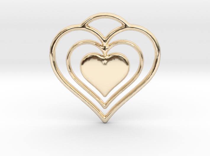 Solid Heart 3d printed