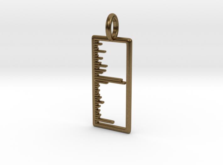 Mass Spectrum Pendant - Science Jewelry 3d printed