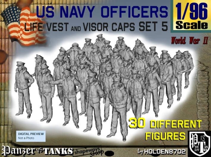 1-96 USN Officers KAPOK Set5 3d printed