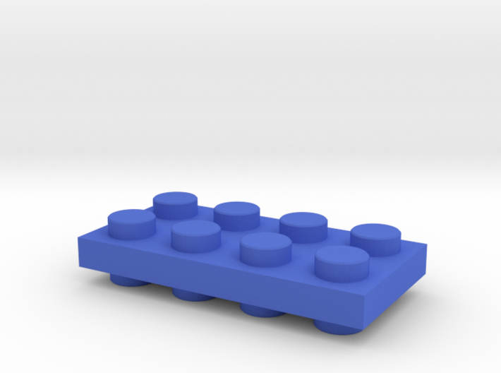 Toy Brick special Connector Up-Down positive flat 3d printed