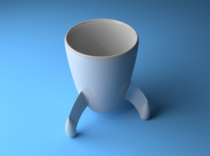 Coffee mug #8 - Tintin rocket 3d printed