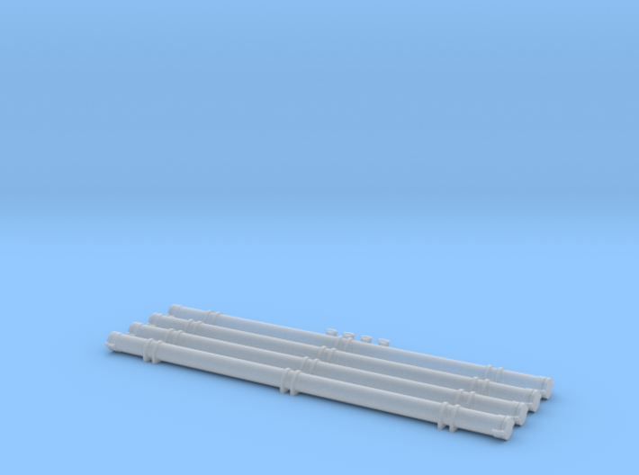 O Scale Pneumatic Hose Outets and Storage Tubes 3d printed