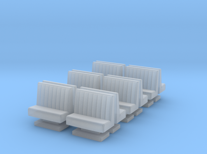 50's soda fountain bar sofa 01. HO Scale (1:87) 3d printed