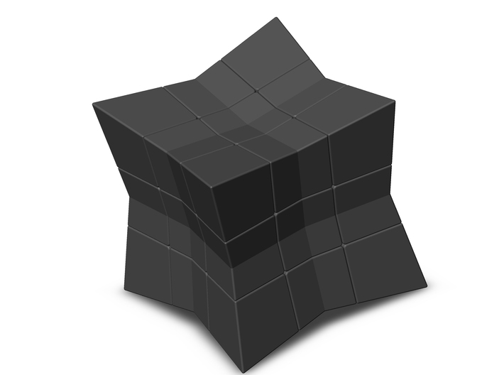 Cube inward 3*3*3 (with spider) 3d printed