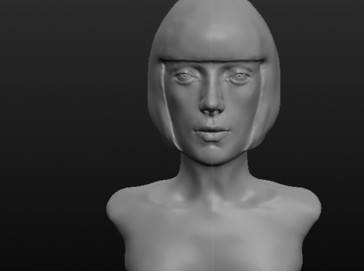 Woman with Short Hair  3d printed Front