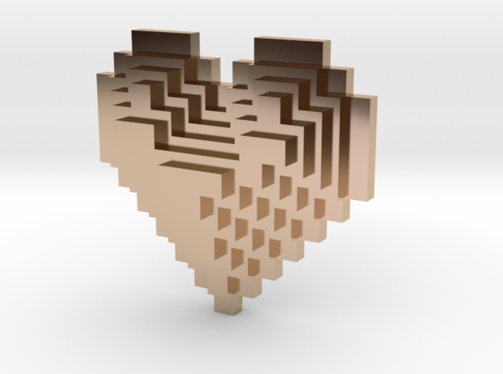 8bit Heart Posted Studs 3d printed