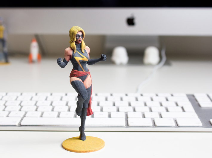 Miss Marvel 3d printed
