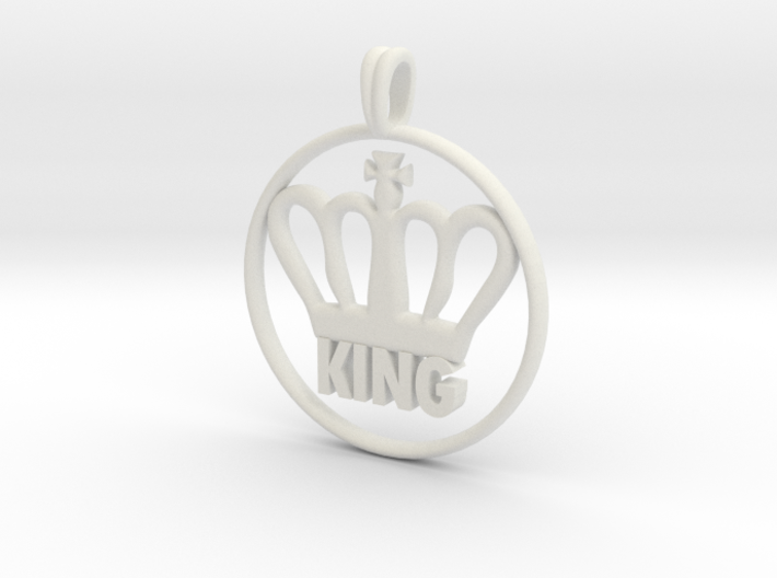 KING Crown Symbol Jewelry necklace 3d printed