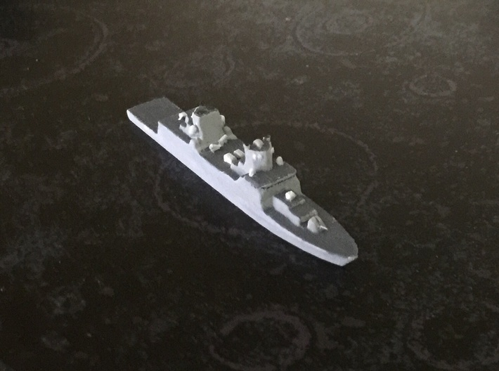 FGS F125 Class Frigate, 1/1800 3d printed Painted sample