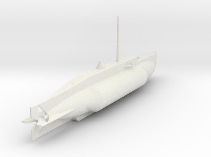 1/144 Scale UK WW2 Mini Sub X-5 3d printed