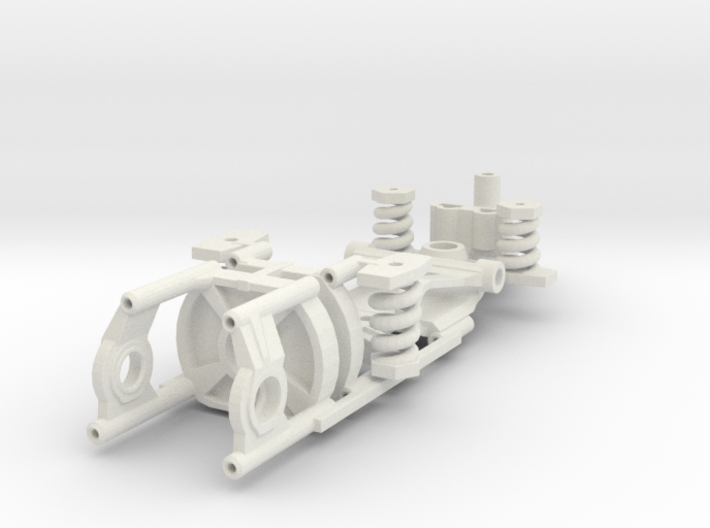 Immense Miniatures Narrow adjustable chassis FC-13 3d printed