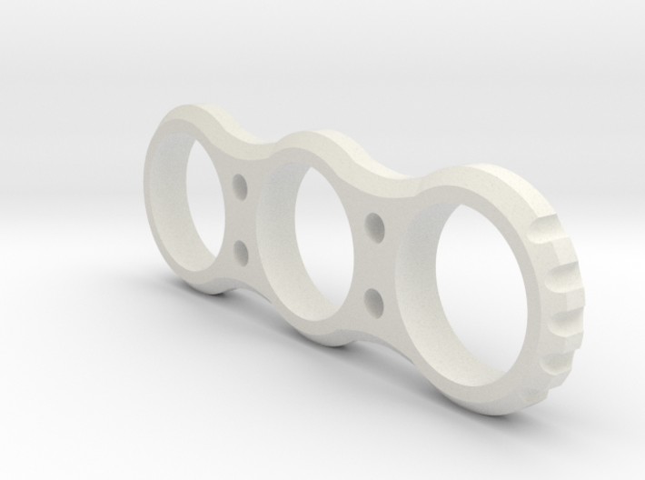 Hand EDC fidget Spinner Project Mk.I 90mm V2 3d printed