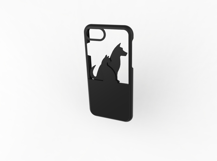 Cat And Dog Wallet Case for iphone 7 3d printed