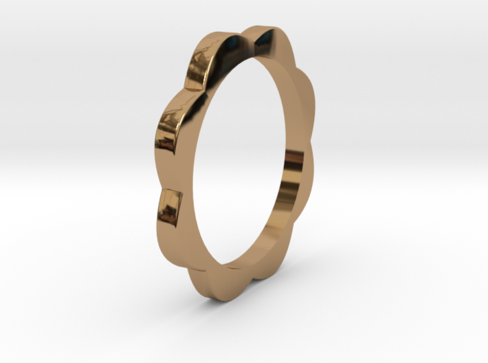 Flower Power Ring ML 18mm 3d printed