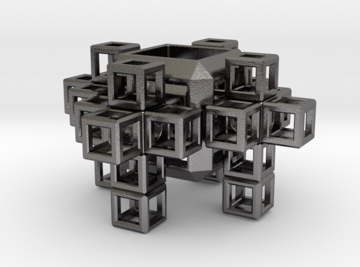 SCULPTURE COLLECTION: 4 Crosses 1 Tesseract 3d printed