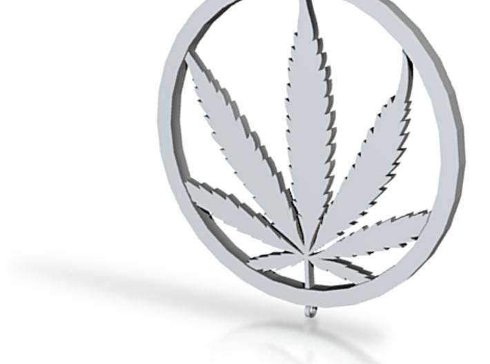 Marijuana Leaf Pendant Medallion 3d printed