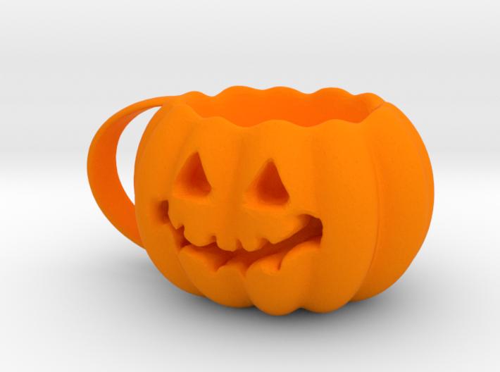 Finished Pumpkin Mug 3d printed