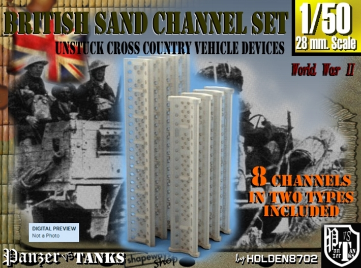 1-50 British Sand Channel Set 3d printed