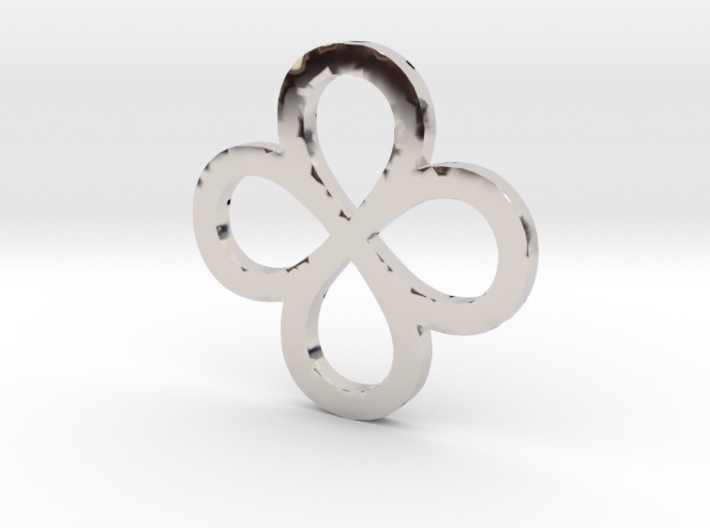 Dual Infinity Flower Coin 3d printed