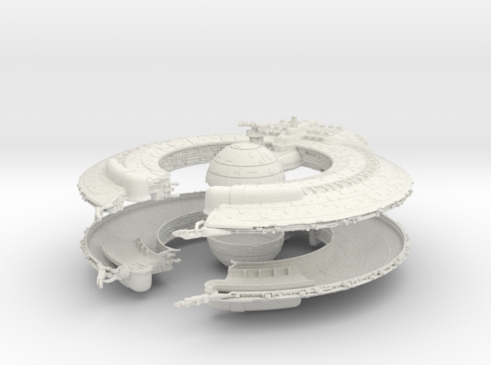 (Armada) Lucrehulk Battleship TWO PARTS 3d printed
