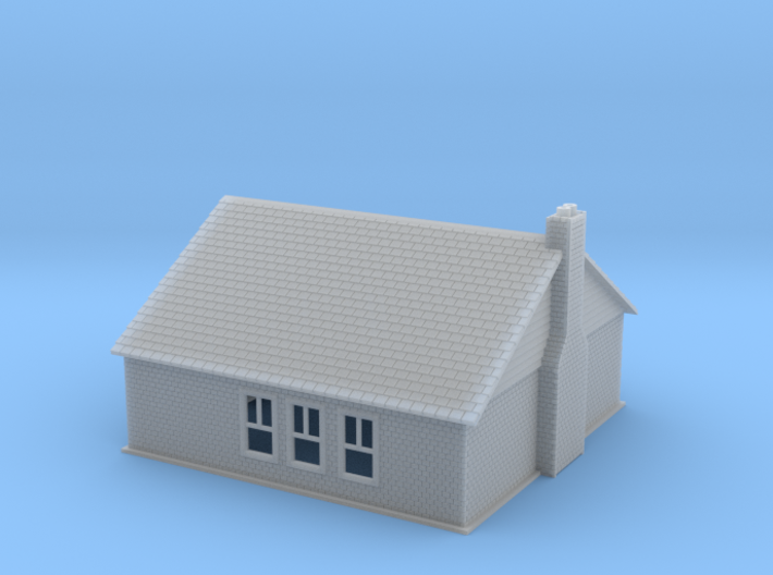 Modern Building Z Scale 3d printed brick building Z scale