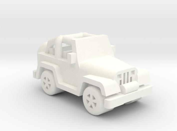 Miniature Jeep 20mm (1 - 4 pcs) 3d printed