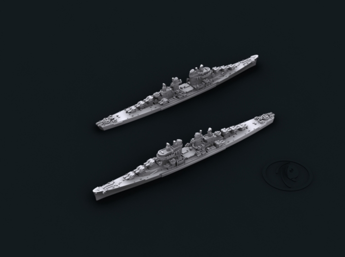 1/4800 USN Atlanta Class CLs 3d printed CL53 San Diego [1944]