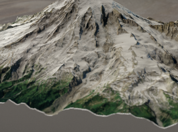 Mt. Rainier, Washington, USA, 1:50000 Explorer 3d printed