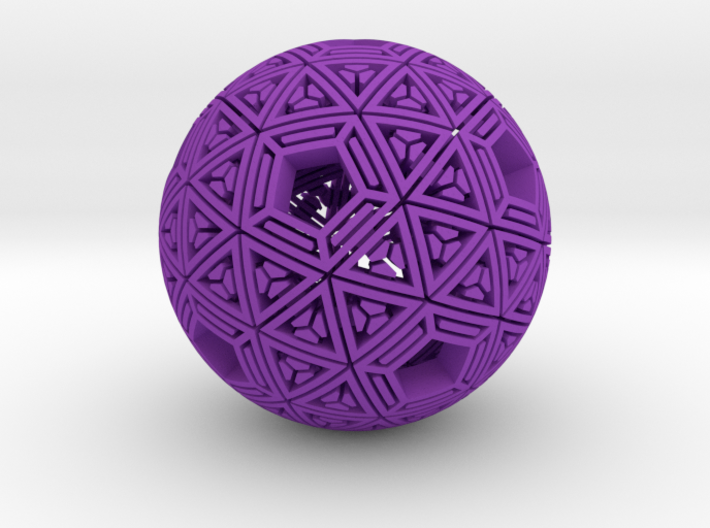 Soft-Boiled Geodesic (6cm) 3d printed