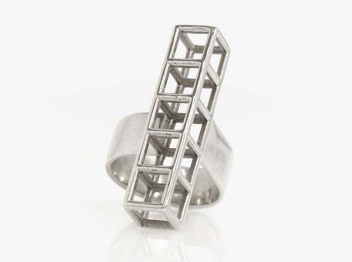 STRUCTURE Nº 4  RING 3d printed