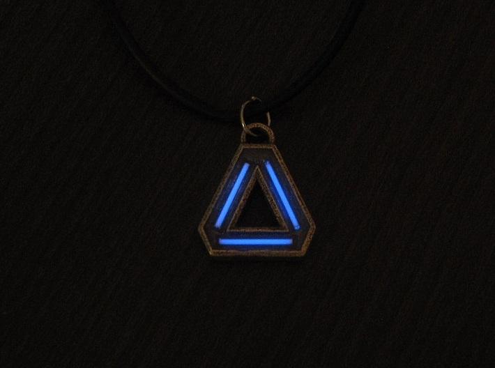 ''Delta'' Tritium Pendant 3d printed