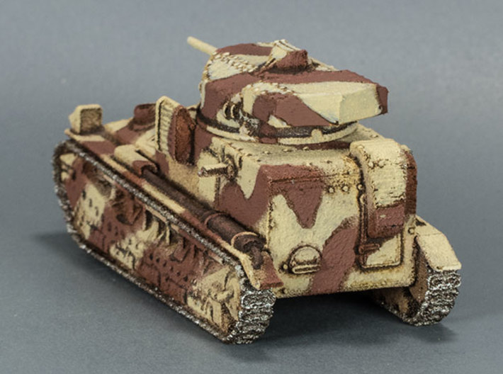 Vickers Medium MkII* (15mm) 3d printed WSF model painted in the camouflage scheme used by the British in the Middle East in the 1930s