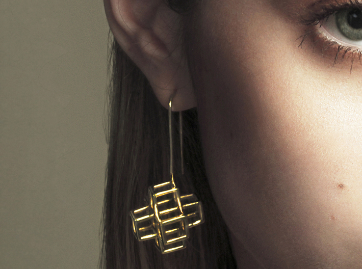 STRUCTURE Nº 2 EARRINGS 3d printed