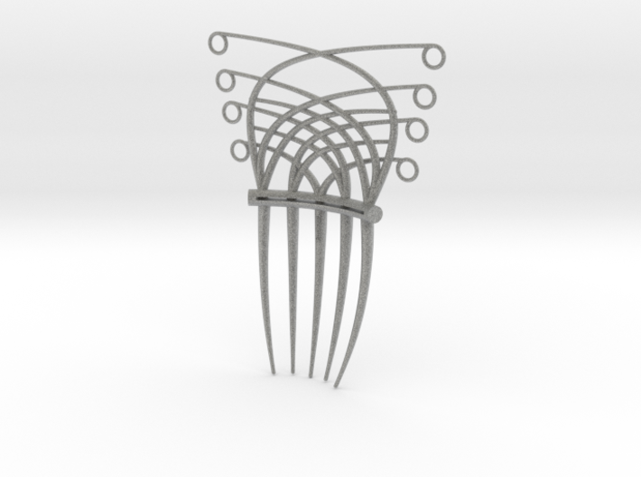 Art Deco/Art nouveau inspired hair comb 3d printed